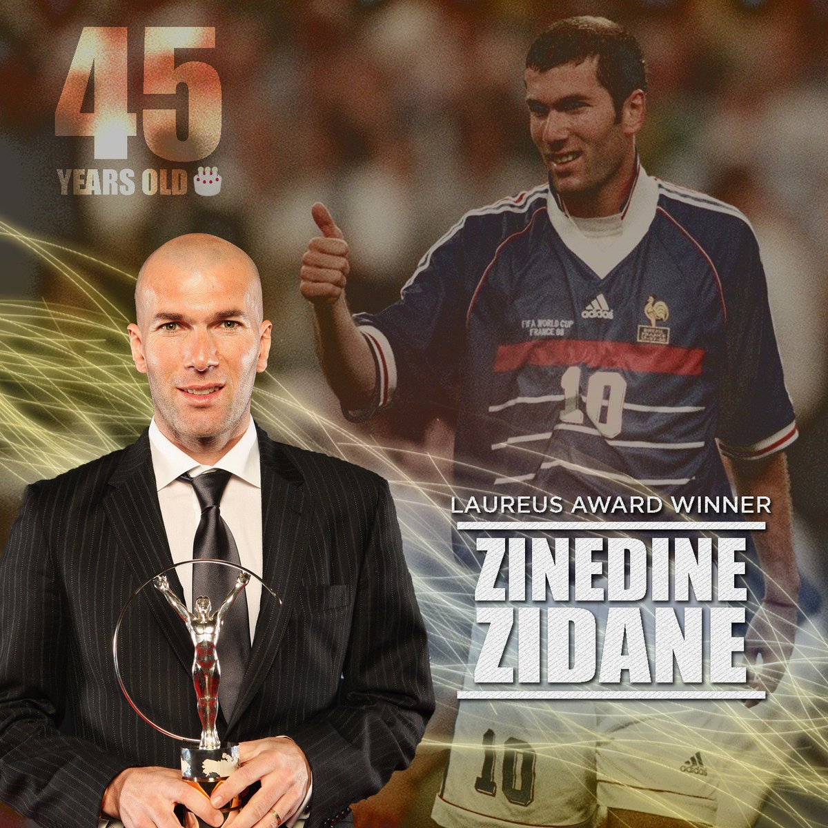 Happy birthday to one of the all-time greats! ⚽️🎉🎊🎁🎈#Zizou https://t.c...
