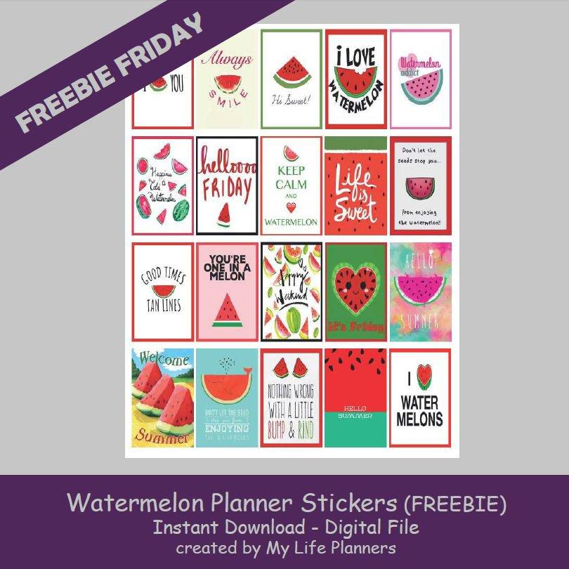 Freebie Friday  http:// mylifeplanners.com/freebie-friday -june-23-2017/ &nbsp; …  #watermelon #FreebieFriday #Stickers #planneraddict #planner #printable #mylifeplanners<br>http://pic.twitter.com/xTYHEISyAT
