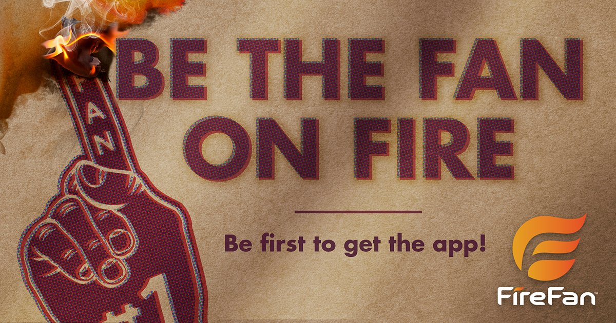 Be the FAN on FIRE!  Be the first to download this Interactive Sports...
