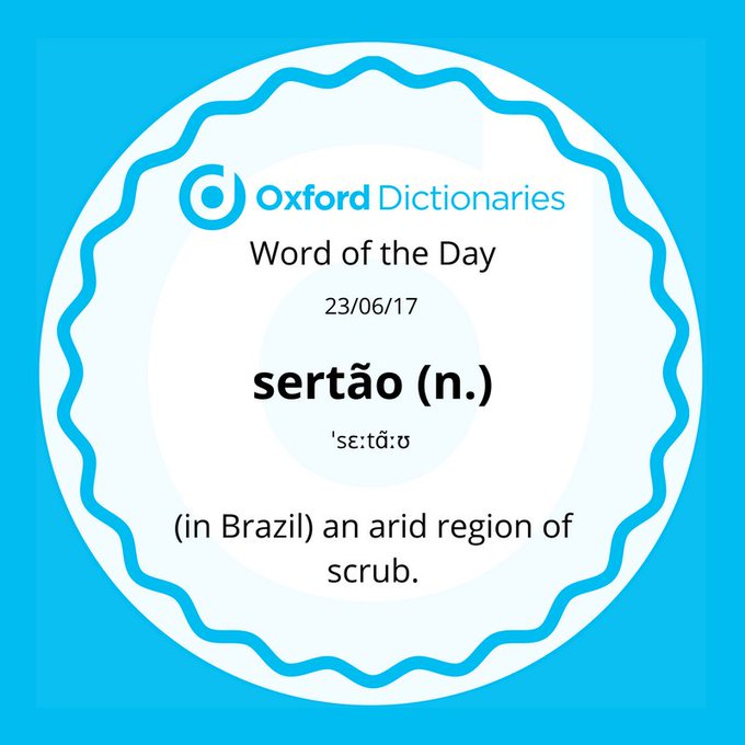 Word of the Day: sertão https://t.co/pkTDn9tW7P