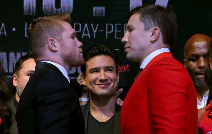 Photos: Canelo, Golovkin - Go Face To Face in Los Angeles! https://t.co/MDGfdeUWke #boxing