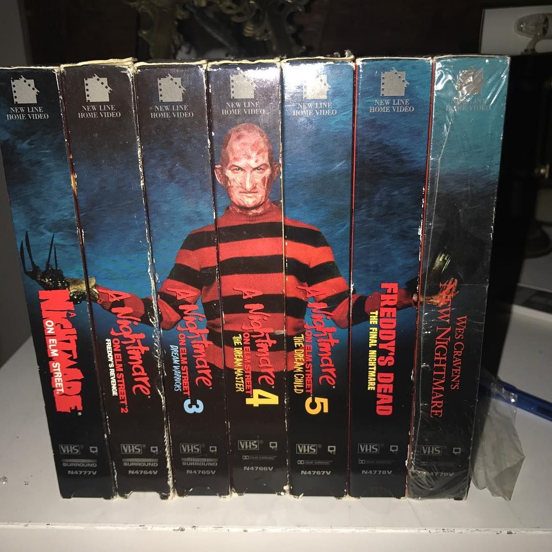 That&#39;s a badass VHS collection! In great condition too! Via &#39;vhs_eden&#39;  http:// bit.ly/2sGHLDL  &nbsp;   #FreddyKrueger <br>http://pic.twitter.com/Ukb8cUvAet