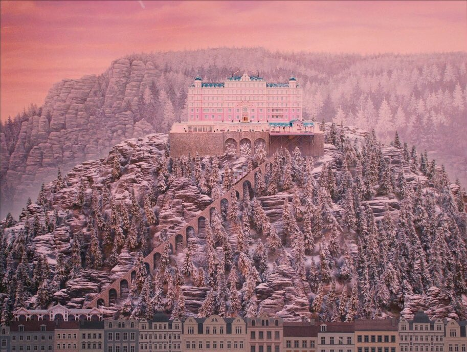 Happy #NationalPinkDay from Wes Anderson's THE GRAND BUDAPEST HOTEL! h...