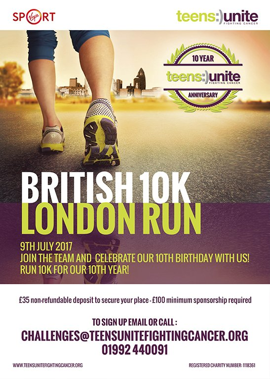 The British 10k London is one of @teensunite's most popular challenges so don't miss out and email challenges@teensunite.org today #10k #run <br>http://pic.twitter.com/bqjAUkKmVM