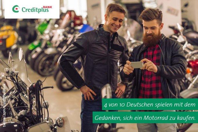 Biker-Träume: 4 von 10 Deutschen spielen mit dem Gedanken, ein #Motorrad zu kaufen. 43 % würden es mit einem #Kredit finanzieren. #Umfrage