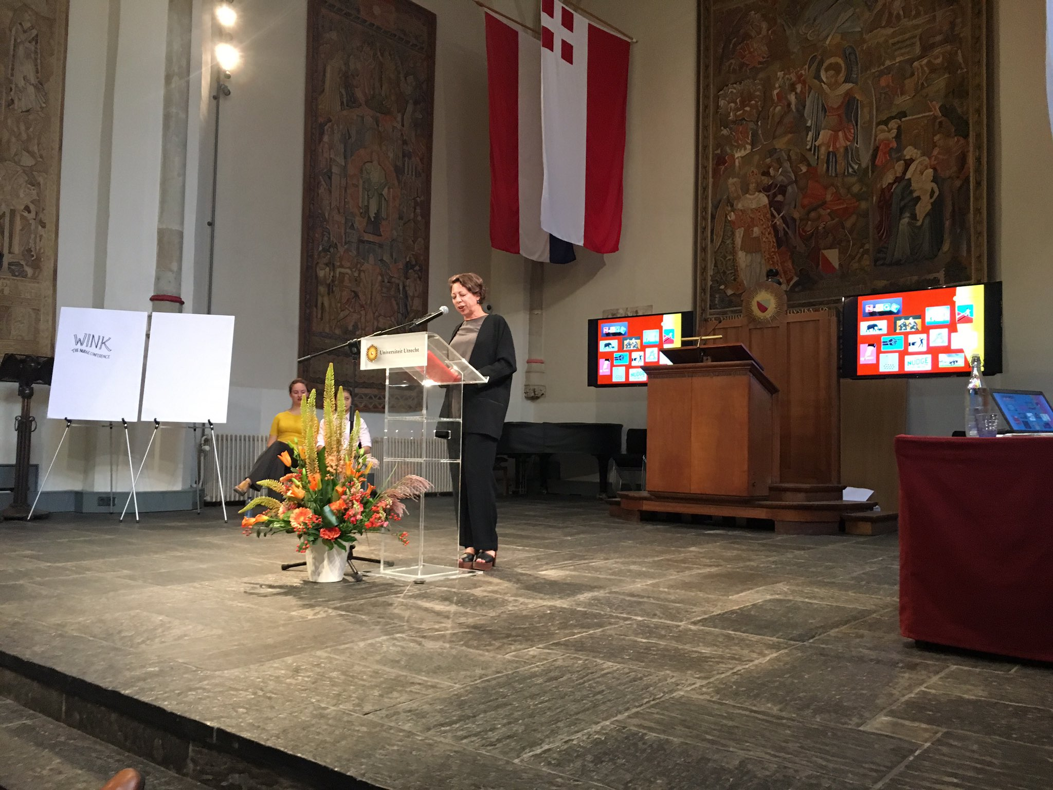 The first international #wink2017 nudging conference organized by Utrecht University and Wageningen University has started @UniUtrecht @WUR https://t.co/Hubppc0Ksg