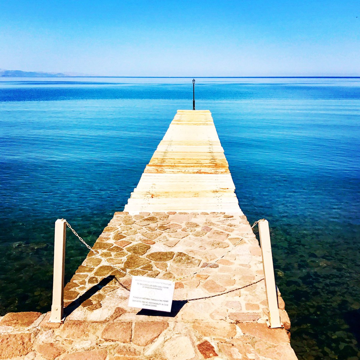 The road to the great blue nowhere #blue #roadtonowhere #Greece #Molyv...