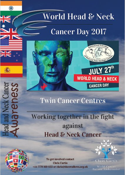 Looking for GLOBAL patients &amp; hospitals to get involved contact me today #WhNCDay2017 #Marskart #NHS #hospital #Cancer #H&amp;NCancer <br>http://pic.twitter.com/HHEJK5GfQu