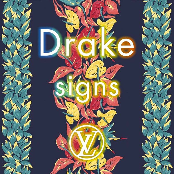 Listen to Drake's Louis Vuitton-inspired song 'Signs' https://t.co/qhM...