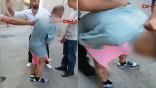 Mahalleli etek giydirip döve döve sokakta dolaştırdı! - https://t.co/h...