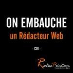 Image for the Tweet beginning: Nous recrutons un rédacteur web
