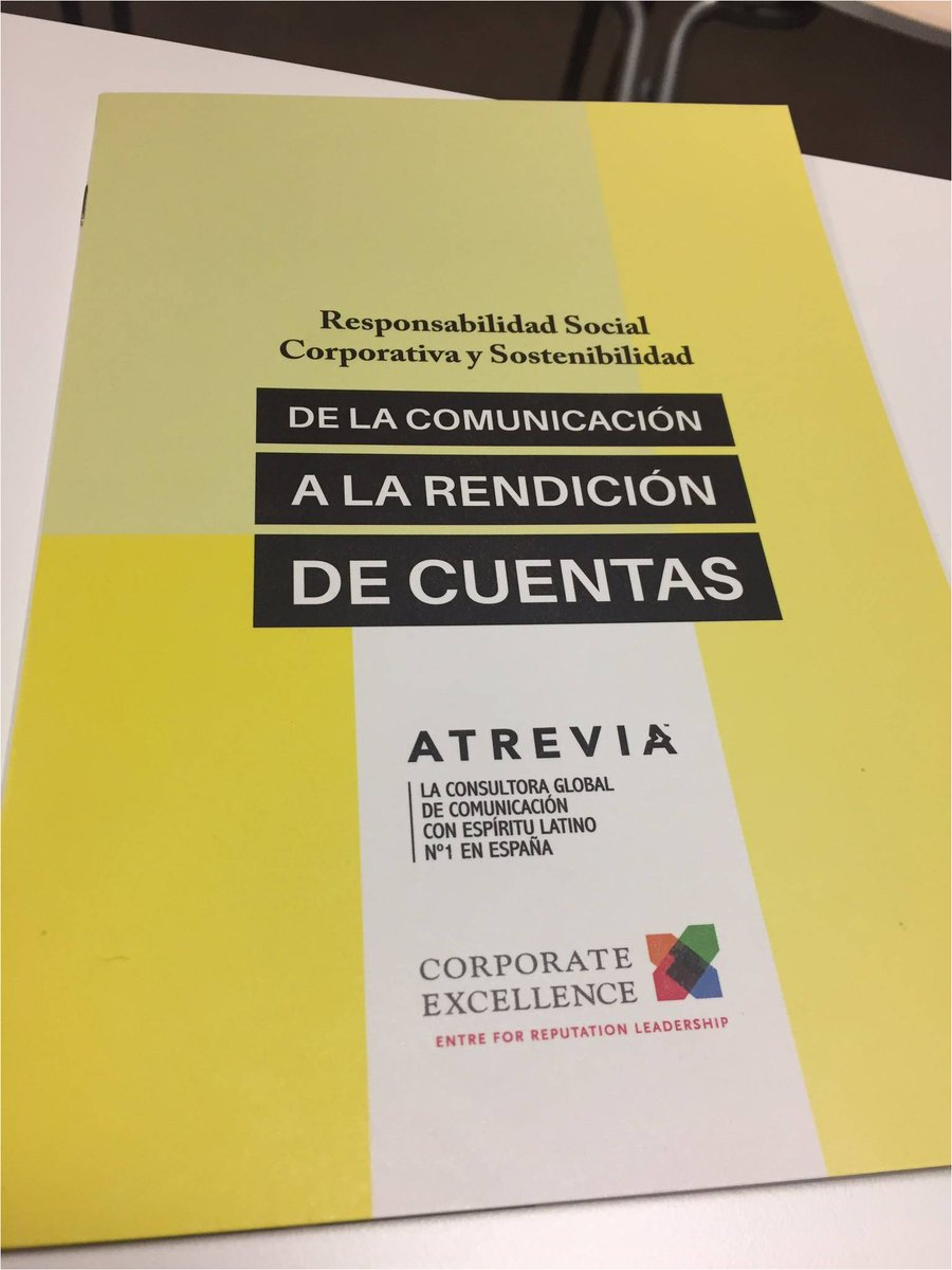 Very proud! @ATREVIA has a new methodology #CSR for companies that actively engage with their stakeholders &amp; embrace #transparency <br>http://pic.twitter.com/6B9R7c9cBZ