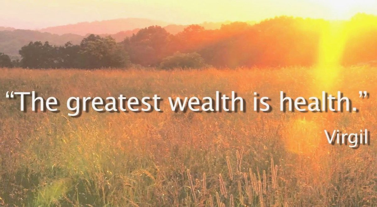 The greatest wealth is health. #Wellness #Wealth<br>http://pic.twitter.com/xFf6TBmKfc
