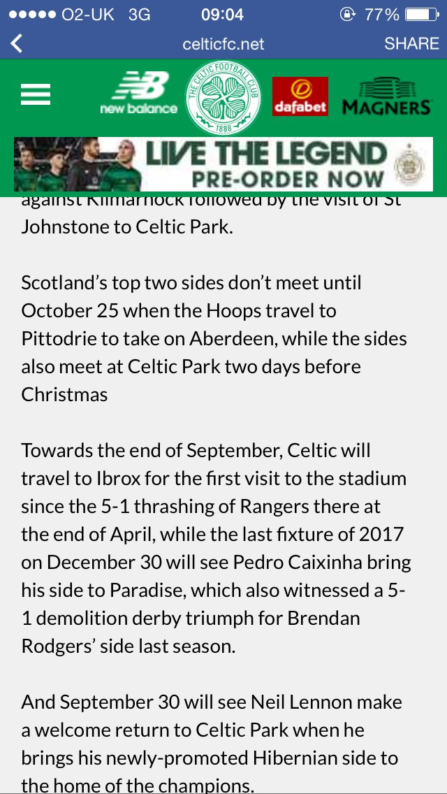 Couple of digs at Rangers by Celtic when discussing the fixtures for the new season. Lovely to see. https://t.co/5PDC2HF0iB