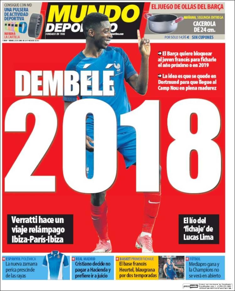"""#Dembélé au """"frigo"""" à Dortmund jusqu'en 2018 ou 19? #Barça veut boucler l'affaire vite et laisser le  jouer au #Borussia d'ici là selon MD pic.twitter.com/dYcbT1DISZ"""