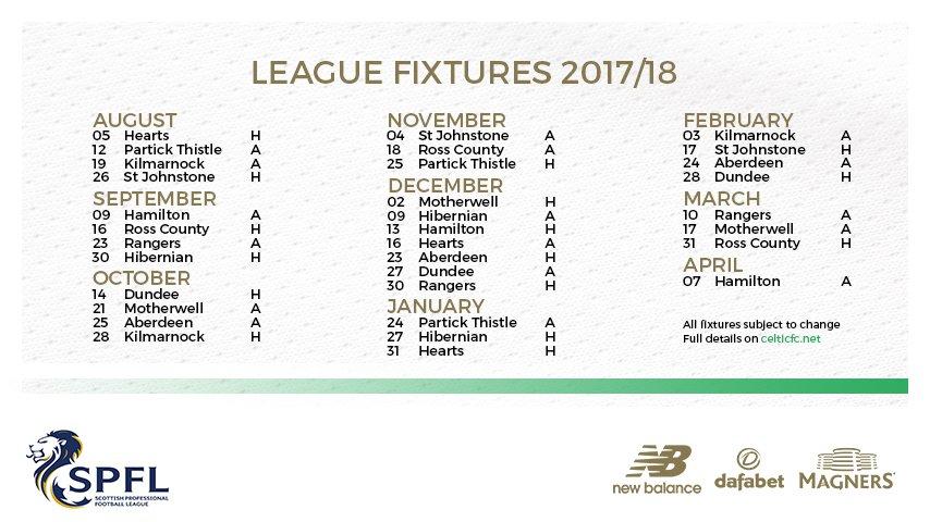 📅Full #SPFL league fixtures 2017/18, su...