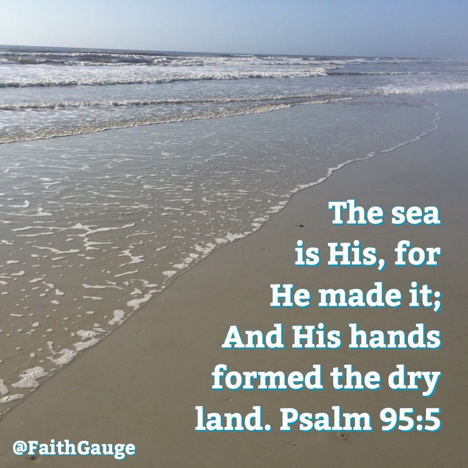 Psalm 95:5 NKJV. The Lord is supreme over all. He created and rules over the sea &amp; the dry land. Praise God! #faith #God #beach #beachlife<br>http://pic.twitter.com/HIqaz5BTxd