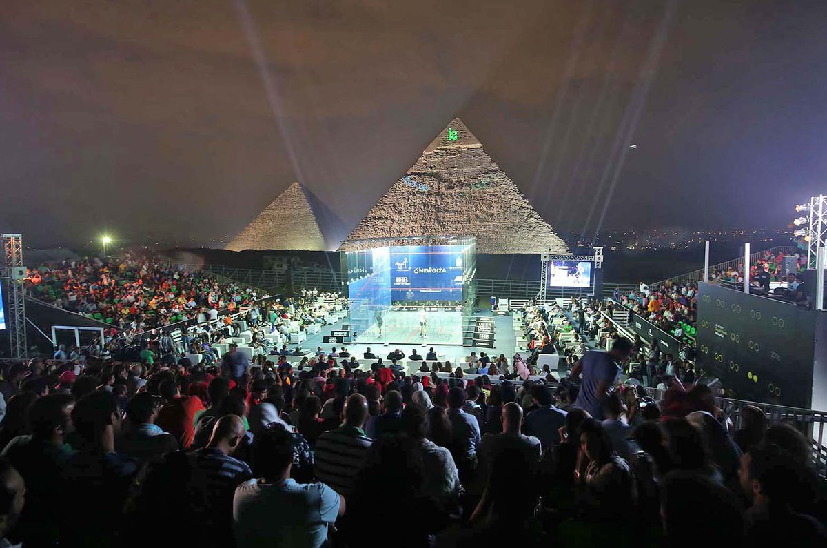 test Twitter Media - #PicturesoftheSeason - The @AlAhramSquash  court in front of the Pyramids 😲   Squash's greatest venue!? https://t.co/RIuaDfxG3R