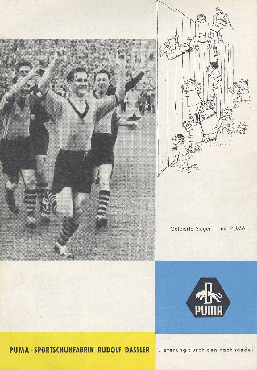 …und so feierte @pumafootball den Titel mit uns. Damals, 1957… 😉#LT #F...