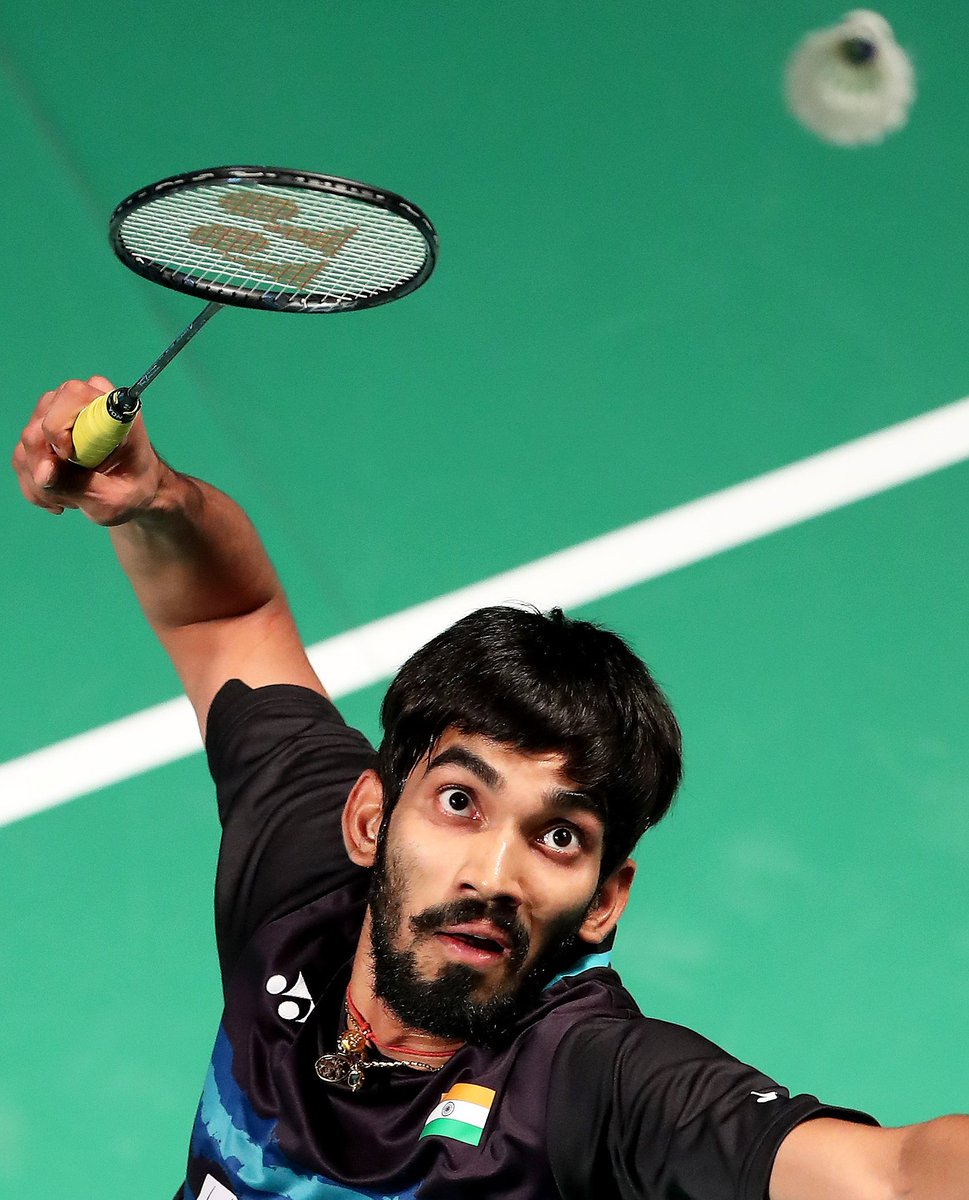 """Kidambi Srikanth on Twitter """"Happy with my performance today and"""