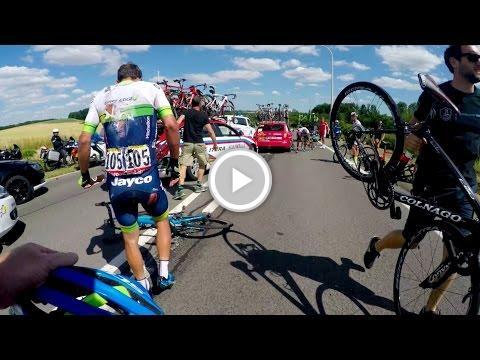 GoPro: Tour de France Stage 3 Crash Aftermath https://t.co/Xxn3PzNtWs...