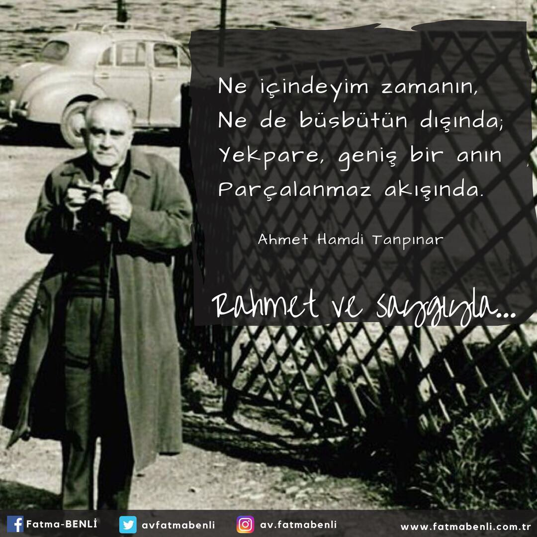 Edebiyat tarihimizin önemli isimlerinden #AhmetHamdiTanpınar ı doğumun...