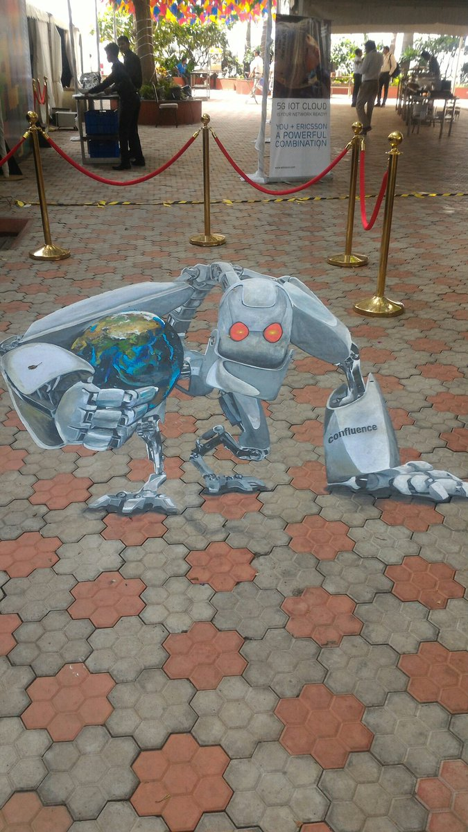 #ZinnovConfluence comes alive ! An interesting piece of #3D art showcased in the midst of #science #CiscoLaunchPad #innovation<br>http://pic.twitter.com/934TPae1Sx