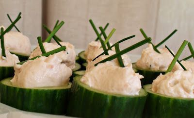 Smoked Salmon Cucumber Boats — Living Lou