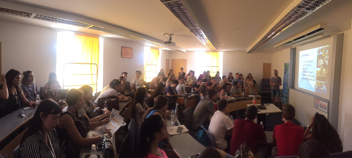 New day, new study trip, @emuni is hosting us today in Piran. Euro-Med cooperation and presentation of the school. #ErasmusPlus <br>http://pic.twitter.com/x1yUyq1gKm