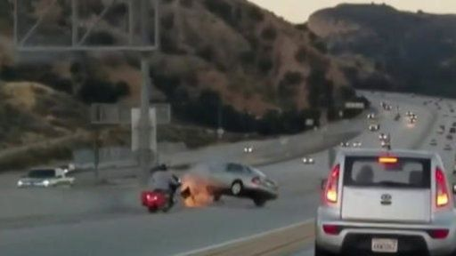 Caught On Camera Road Rage Becomes Scary Freeway Collision Https T