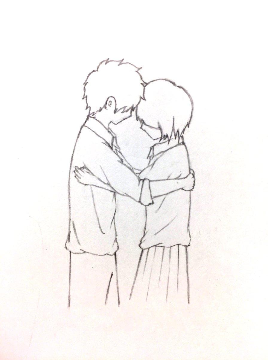 """hugo@絵描き垢 on twitter: """"今回も落描きですw カップルシリーズ3です"""