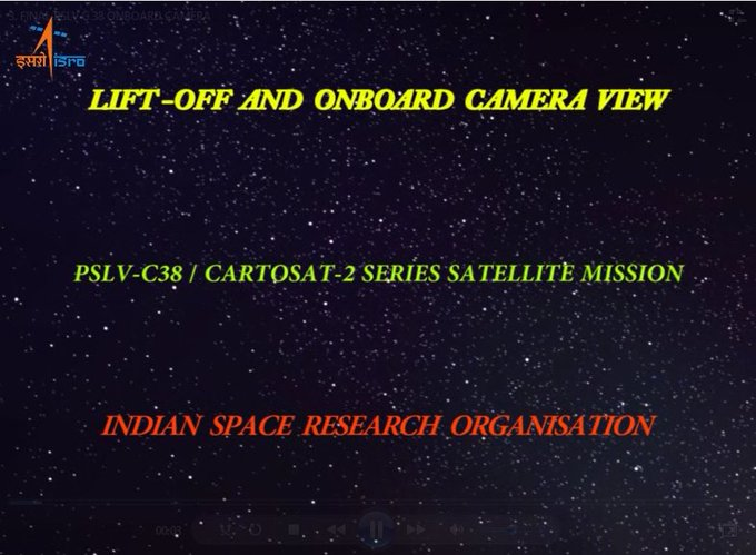 Watch PSLV-C38 Liftoff and Onboard Camera Video https://t.co/Z8ifh9ELU5