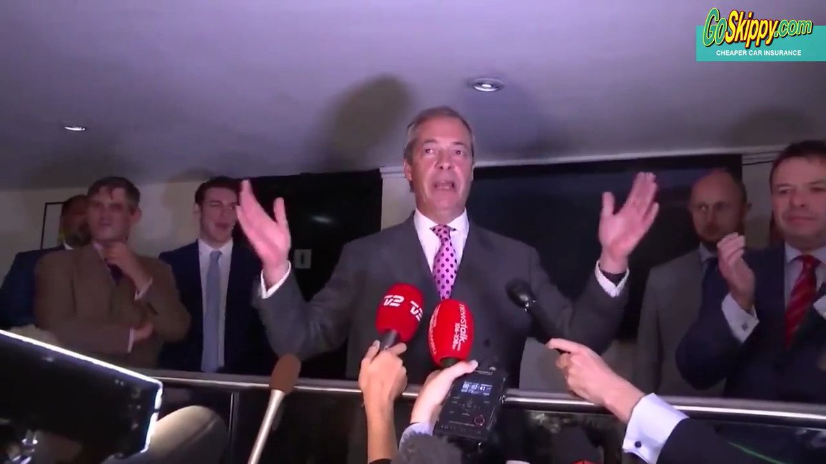 WATCH   'The British people have spoken and the answer is, we're OUT!'...