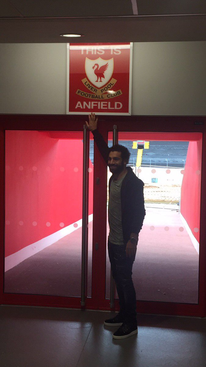 Mo at Anfield! 🔴  Go behind the scenes with us: https://t.co/IVW20pz1I...