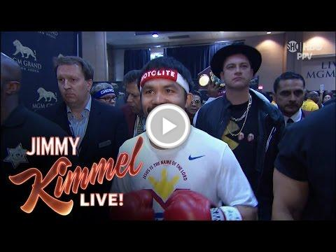 Jimmy Kimmel Talks About Being Part of Manny Pacq... https://t.co/NcWq...