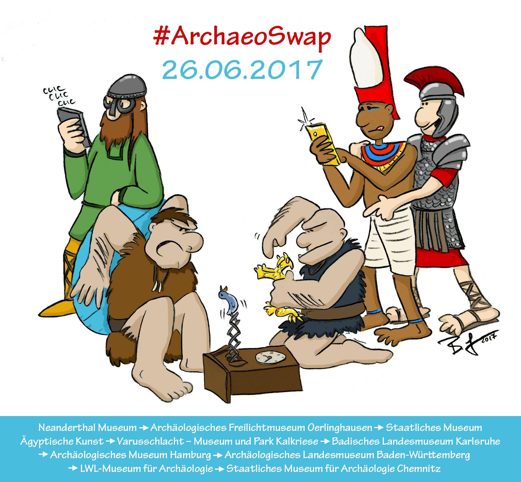 Freundliche #Übernahme beim #ArchaeoSwap am Montag! Wir posten bei @ArchaeologieHH, unsere Kanäle übernimmt @VarusKalkriese 😊 https://t.co/nOb4OkKuCZ