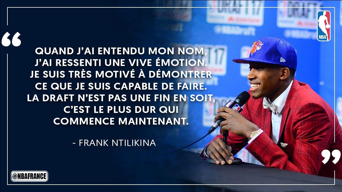 .@FrankLikina après avoir été drafté en 8ème position par les @NYknick...