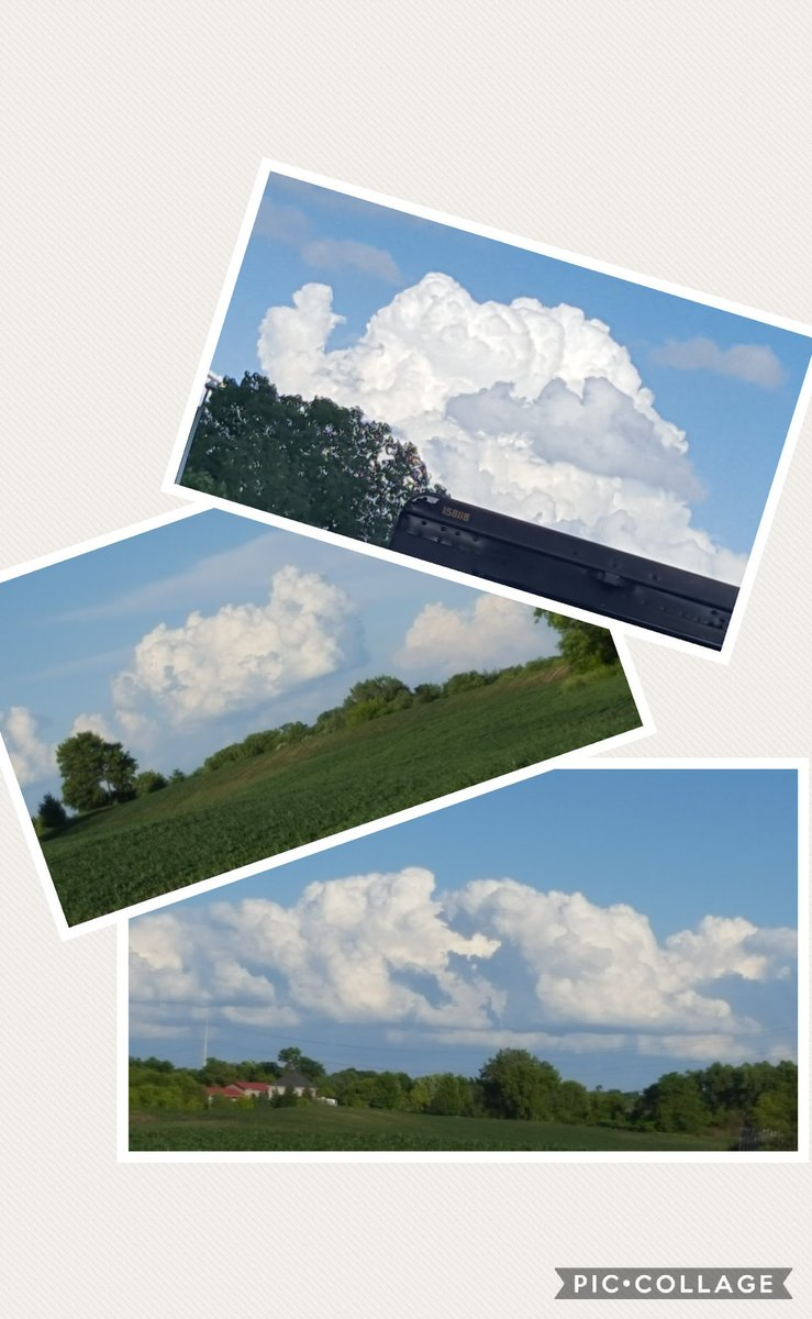 Yesterday's #ruralskies were filled with puffy white #clouds in imaginative shapes