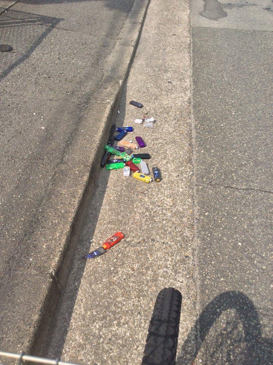 道端に大量のガイアメモリが破棄されてたんだけどなんか事件でもあった??