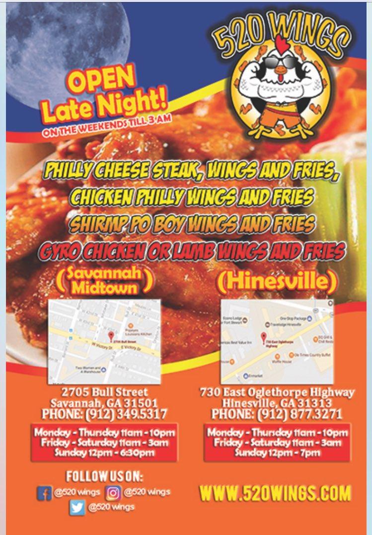 520 wings hinesville ga