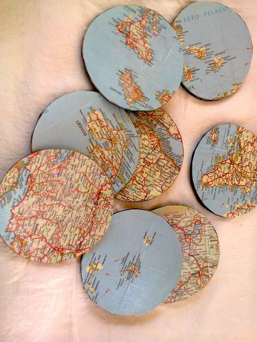 Happy Father's Day Gift Worldly Coasters