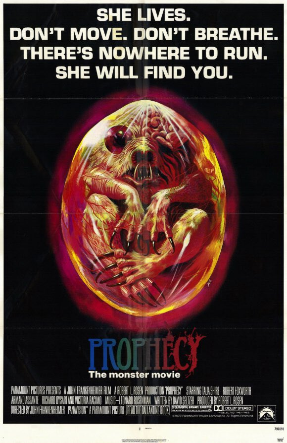 MOVIE HISTORY: 38 years ago today, June 15, 1979, the movie &#39;Prophecy&#39; opened in theaters!  #Prophecy #RobertFoxworth #TaliaShire <br>http://pic.twitter.com/riok5swzED