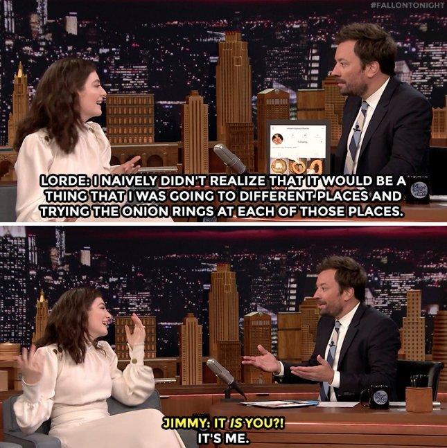 Lorde admite que tinha conta secreta sobre cebolas no Instagram