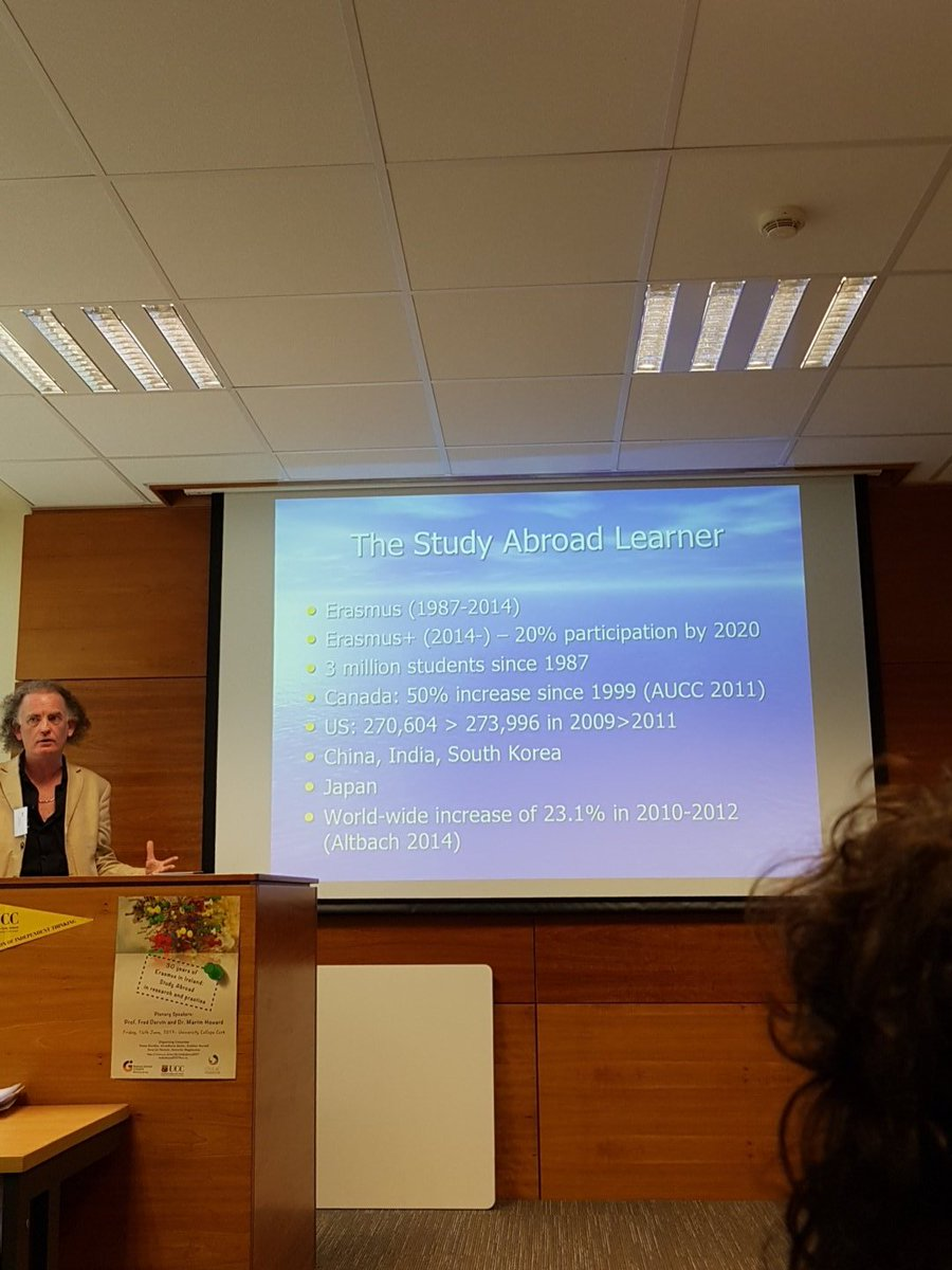 30 years of Erasmus. Dr Martin Howard @ UCC Study Abroad Conference