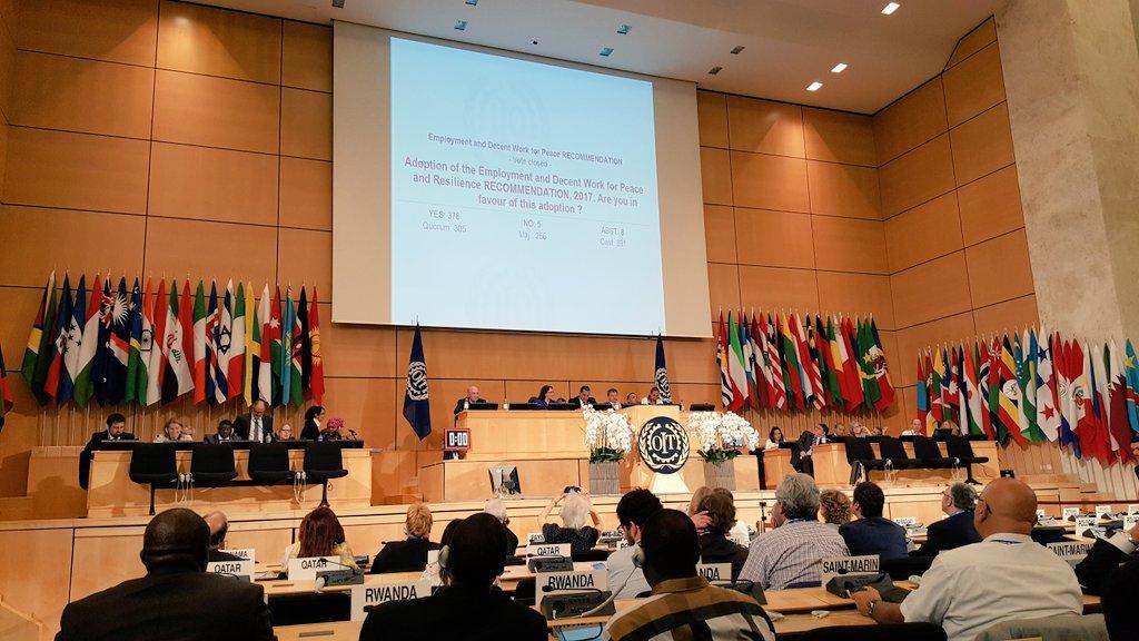 Resumen de las conclusiones de los comités de la 106ª Conferencia internacional del Trabajo