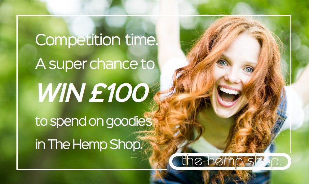 Your chance to WIN £100 to spend on HEMP GOODIES.  http://www. thehempshop.co.uk/competition/  &nbsp;   #competition #sustainability #vegan<br>http://pic.twitter.com/kby4BSMiIq