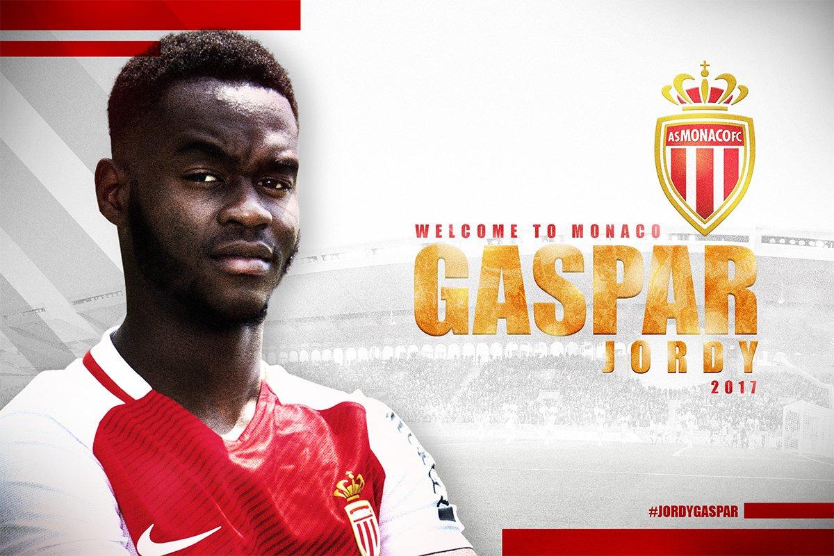 Officiel : l'AS Monaco annonce la signature de Jordy Gaspar jusqu'en 2020 !