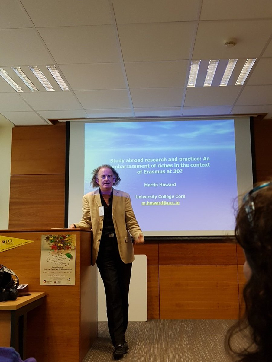 Dr Martin Howard keynote speaker at UCC Study Abroad Conference today.