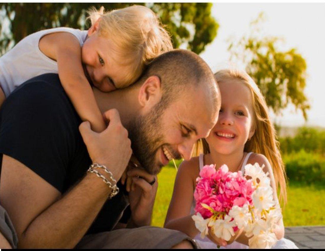 открытка папа и дочка фото