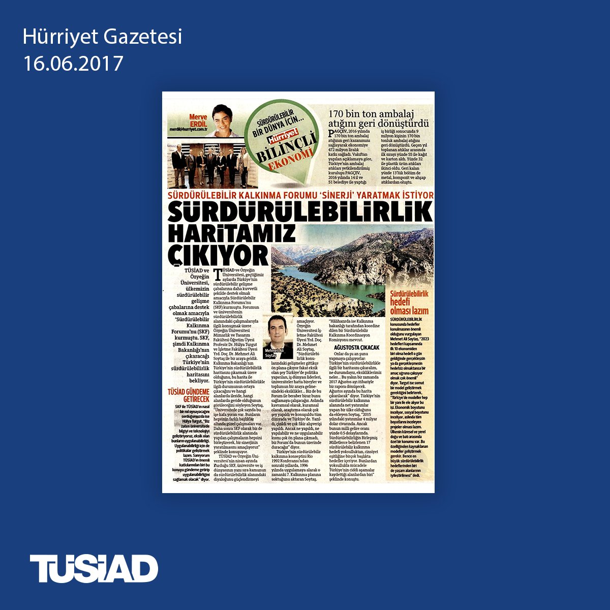 Sürdürülebilirlik haritamız çıkıyor. @Hurriyet Gazetesi, @merveerdill...